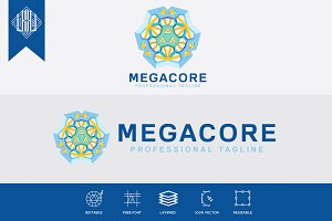 Mega Core Logo Template