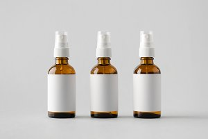 Amber Spray Bottle Mock-Up - Label