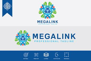 Mega Link Logo Template