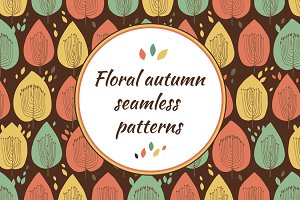 Autumn floral patterns