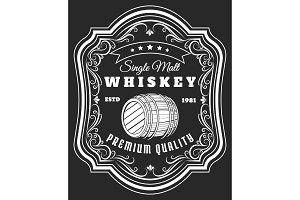 Whiskey barrel label