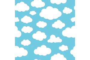Clouds blue pattern