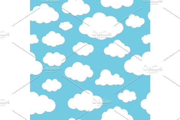 Clouds blue pattern