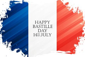 Happy Bastille Day Banner