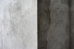 The angle of the gray house with a shadow