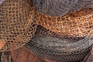 Texture fishing net. Close up