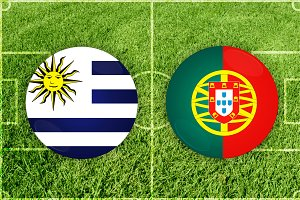 Uruguay vs Portugal football match