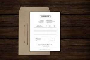 Studio Invoice Template - PSD Design