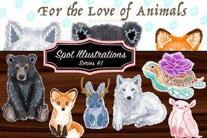Wildlife Animal Art Prints: Series#1