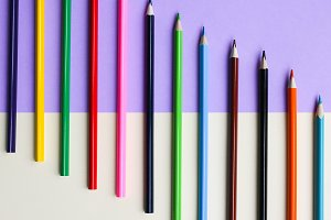 Colorful art pencils background