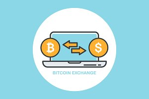 Bitcoin Exchange Vector Illustration