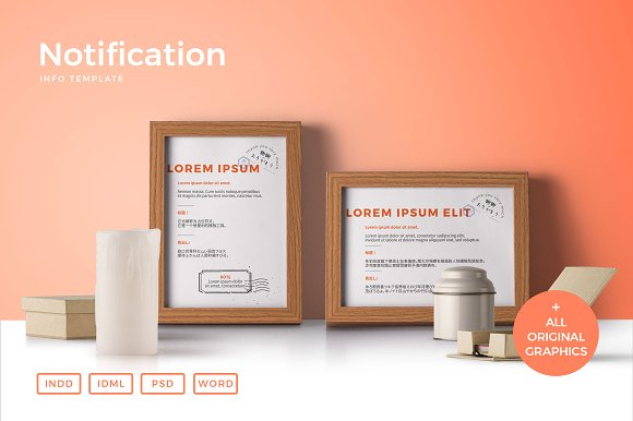 notification signs card templates creative market