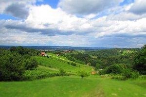 Green view from Međimurje, Croatia