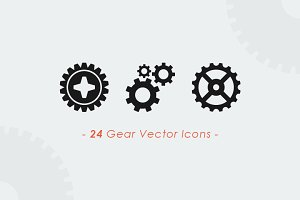 Gears & Wheels Vector Set