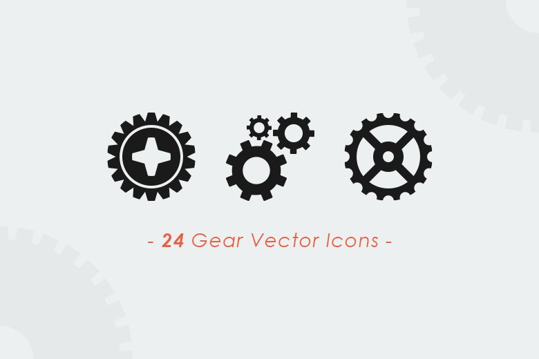 Gears & Wheels Vector Set ~ Icons ~ Creative Market