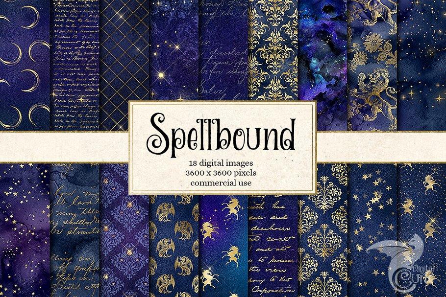 Spellbound Digital Paper