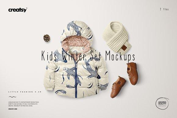 Download Kids Winter Set Mockups