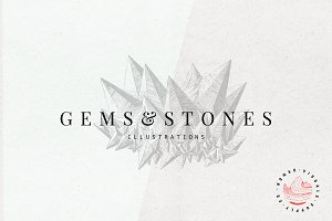 Gems & Stones Geology Illustrations