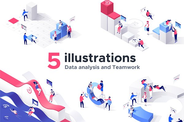 Web Elements: DmiT Shop - Charts collection - 5 illustrations