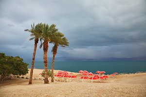 Winter on the Dead Sea.