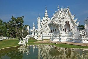 White fairy palace.