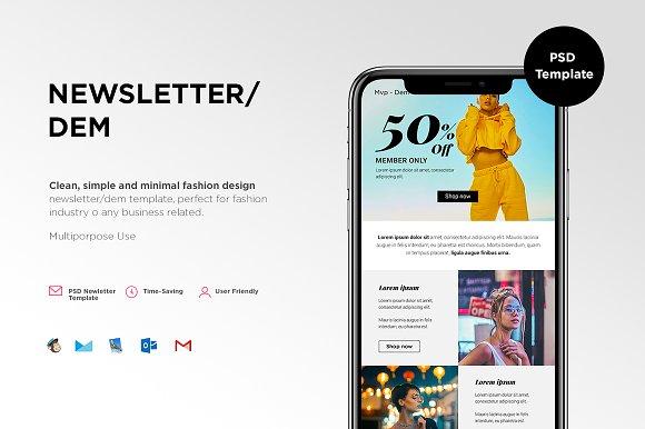 mvp newsletter dem email templates creative market