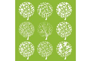 Art trees collection for your design