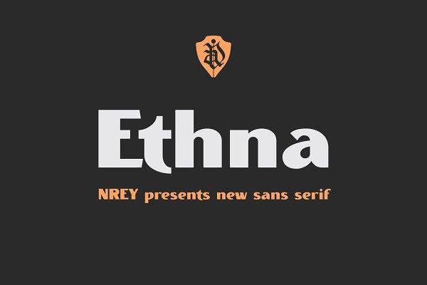 Sans Serif Fonts - Ethna black