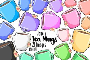 Kawaii Tea Clipart