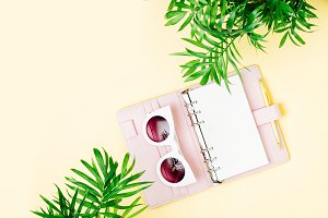 Tropical leaves and planner