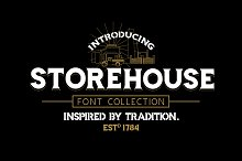 Storehouse Font + Vector shapes