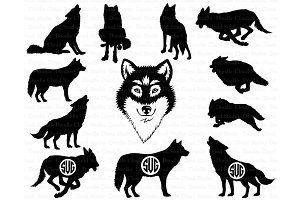 Wolf SVG, Wolf Head SVG files