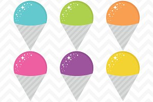 Clip Art Vector Snow Cones