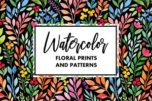 Watercolor Floral Prints&Patterns
