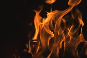 Abstract Macro of Flames Background