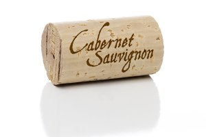 Cabernet Sauvignon Wine Cork with Isolated on White Background.