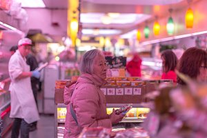 Lady in the chinese food market
