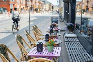Street cafe Copenhagen, Denmark