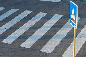 pedestrian road crosswalk, zebra