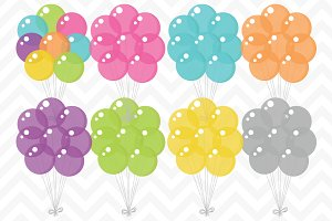 Clip Art Vector Party Balloons