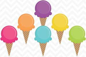 Clip Art Vector Ice Cream Cones