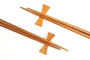 Chopsticks on White