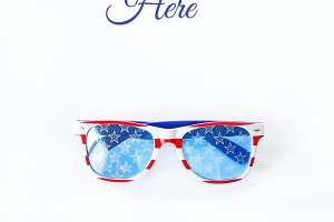 Stock Photo - Patriotic Sunglasses