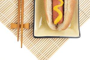 Hot Dog and Chopsticks