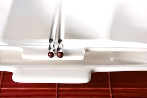 Abstract of Chopsticks and Dish