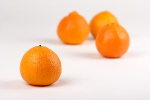 Clementine Oranges on White