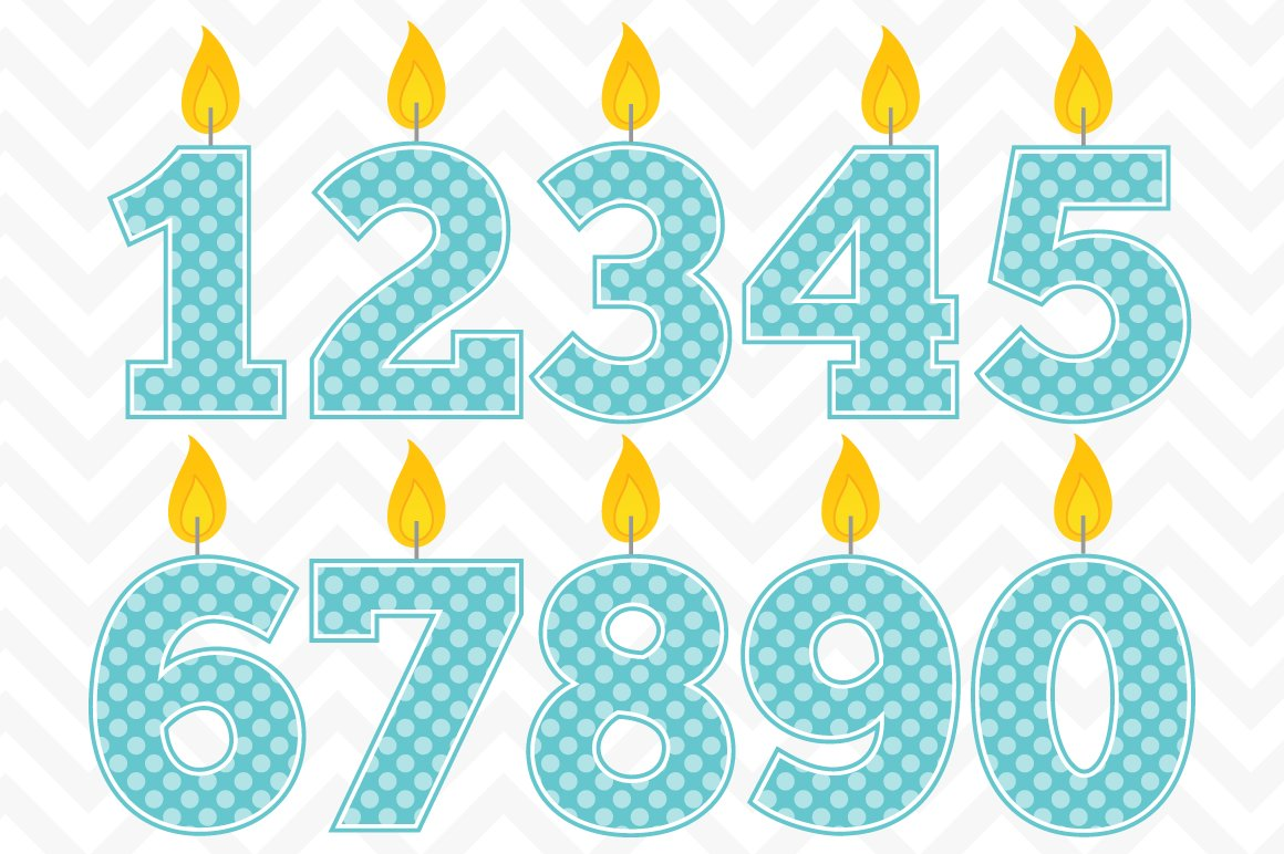Number 1 Candle Clipart Download