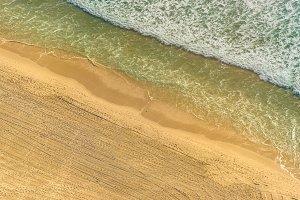 Aerial view of ocean beach