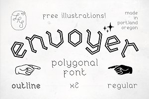 Envoyer Font Duo FREE Illustrations!