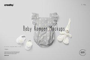 Baby Romper 2 Mockup Set